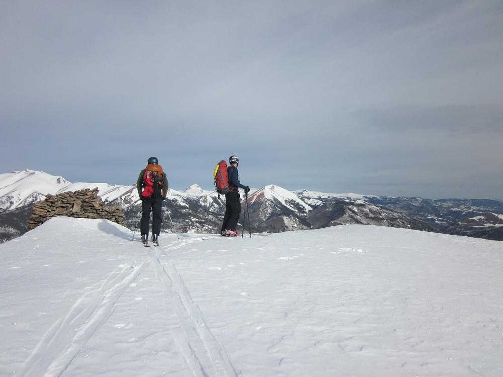 Peak behind CTF Yurt